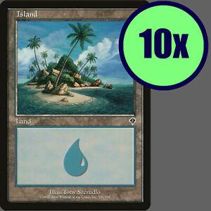 10x Invasion ISLAND #335 Same Art Basic Land NM/LP/MP MTG Magic the Gathering