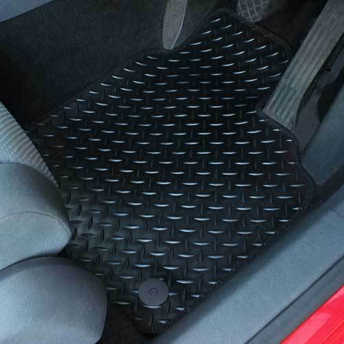 W166 Fully Tailored 4 Piece Rubber Car Mat Set 8 Clip For Mercedes M Class 2011