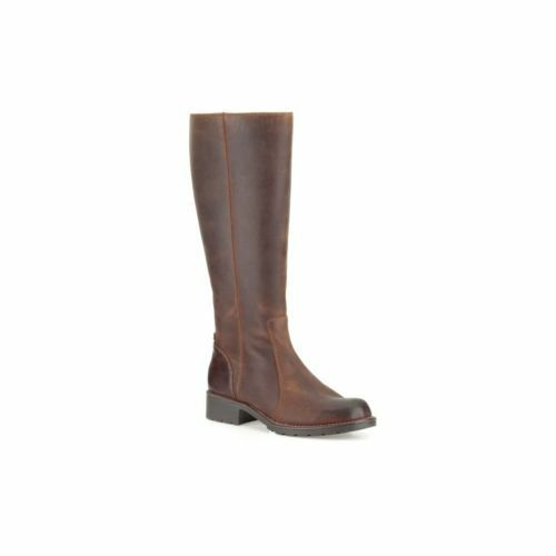 Zapatos especiales con descuento Clarks Womens Leather LONG KNEE HIGH boots ORINOCO Equistrian Riding BROWN