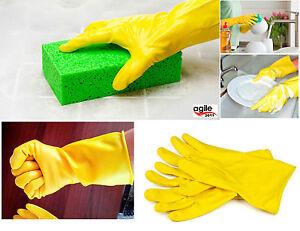 haushalts und garten handschuhe gummihandschuhe sp lhandschuhe gelb neu ebay. Black Bedroom Furniture Sets. Home Design Ideas
