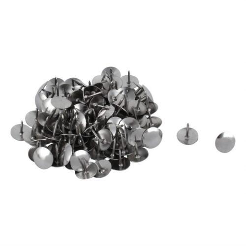 90x Puntine disegno metalliche argento bacheche fogli annunci legno affissioni