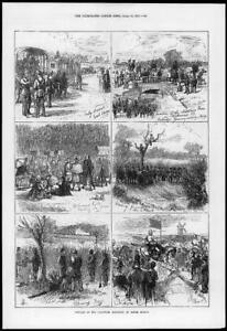 1874-Antique-Print-MILITARY-Volunteer-Sham-Fight-Easter-Monday-Richmond-120