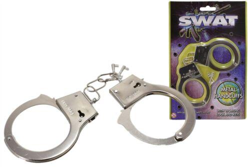 Kids Toy Metal Handcuffs Hand Cuffs Police Fancy Dress Children Pretend Play