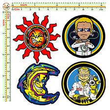 sticker sun moon  VALENTINO ROSSI  adesivo sole luna doctor auto moto casco 4pz.