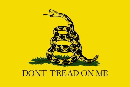 """NEW Don/'t tread on me Flag with 24/"""" Wooden Stick Pole"""
