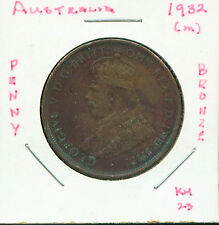 WORLD COINS AUSTRALIA 1932(m) LARGE PENNY (G456) BRONZE
