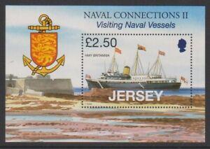 Jersey-2008-Naval-Connexions-Hmy-Britannia-Feuille-MNH-Sg-MS1386