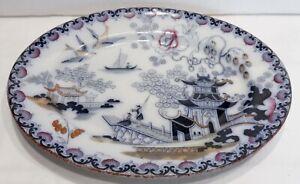 Hermoso-Plato-Antiguo-Porcelana-Wedgwood-Chusan
