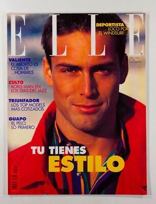GREG HANSEN Carolina Herrera SKID ROW Boris Vian SPANISH ELLE magazine 1992 mens