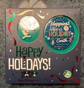 Disney Pin pluto Happy Holidays 2020 Passholder Pin /& Ornament Set LE 1000