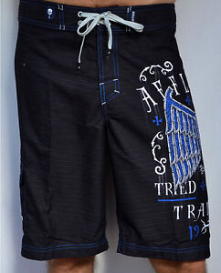 bc6c637fe2 Affliction - TRIED FATE - Men's Boardshorts Swim Trunks - Shorts ...