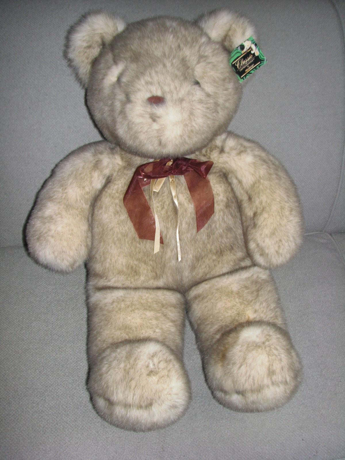 KELLYTOY KELLY TOY CLASSIC IMPRESSIONS BIG HUGE LARGE STUFFED PLUSH TEDDY BEAR