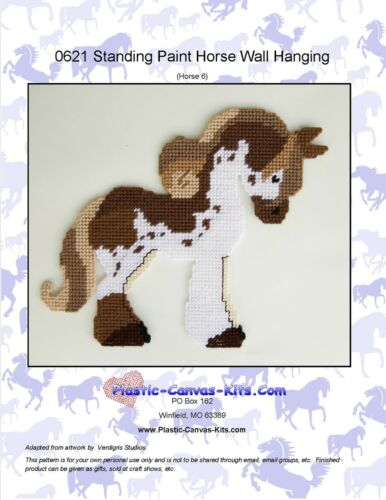 Standing Paint Horse Wall Hanging-Plastic Canvas Pattern or Kit