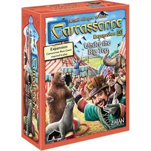 Carcassonne-Under-The-Big-Top-Expansion-10-Board-Z-Man-Games-ZMG-7820-Circus