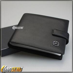 mercedes benz leather cd case car dvd holder disk storage. Black Bedroom Furniture Sets. Home Design Ideas