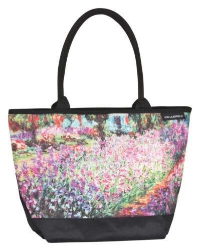 Schultertasche Umhängetasche Shopper Kunst Damen Groß Motiv Monet Der Garten