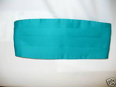 Bright Aqua Used Cummerbund Satin Polyester