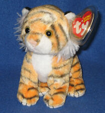 TY TIGGS the ORANGE TIGER BEANIE BABY - MINT with MINT TAGS - ORIGINAL VERSION