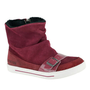Birkenstock-Kids-Ballina-Suede-Leather-Shoes-Plum-32