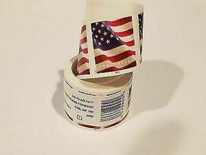 USPS US Flag Forever Stamps - Roll of 100 NEW