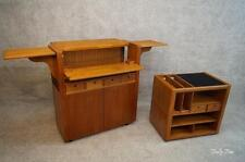 Teak MCM Expanding Top Bar Liquor Cabinet Tea Trolley Server MID Century Modern