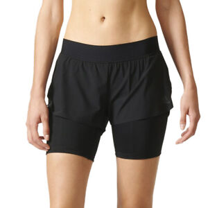 Details about Adidas 2 in 1 Climalite Damen Shorts & Leggings Kurze  Sporthose Training AP9520