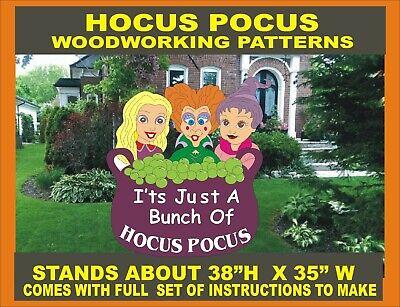 Hocus Pocus Halloween Sisters Woodworking Pattern Plan Craft Yard Art Ebay