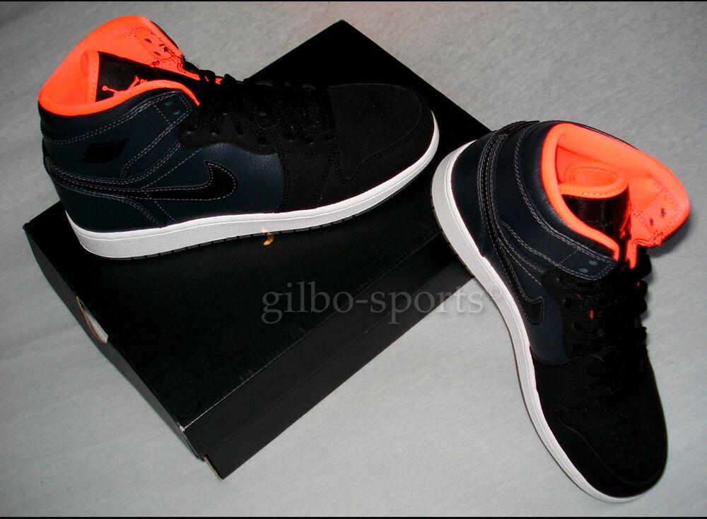 Nike Air Jordan 1 Retro High BG Black Hyper Orange Gr.  38 38.5 Neu 705300 016