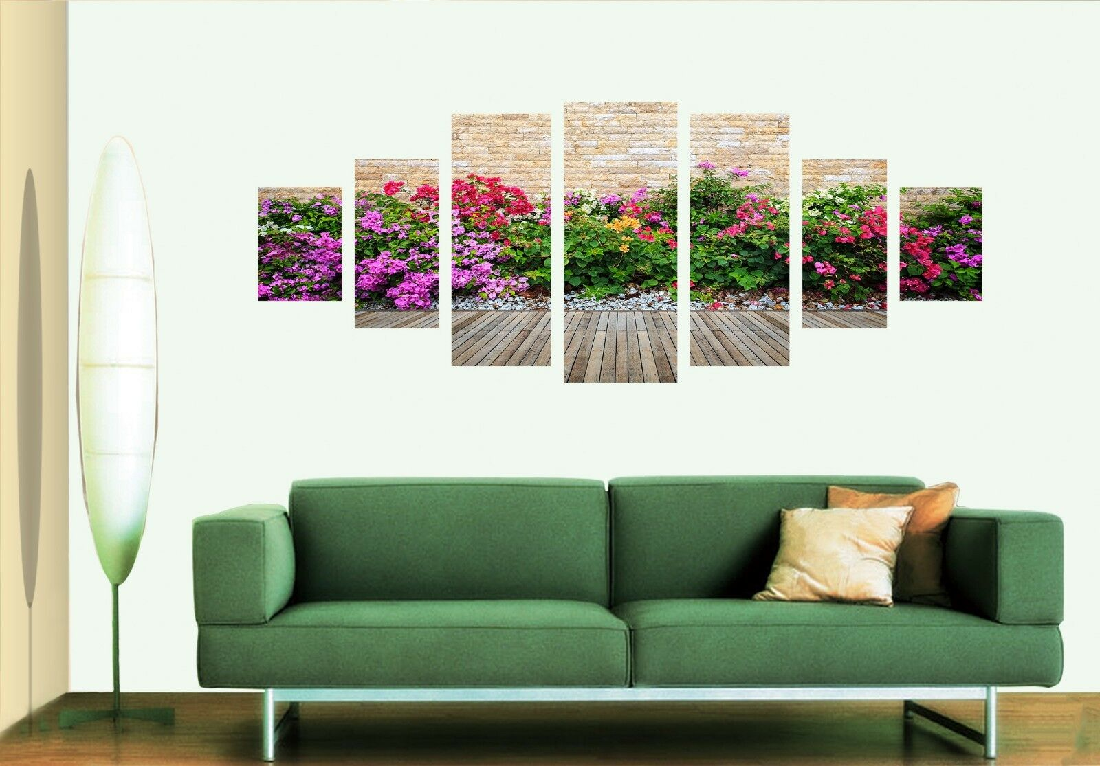 3D color Flowers View 124 Unframed Print Wall Paper Deco Indoor AJ Summer
