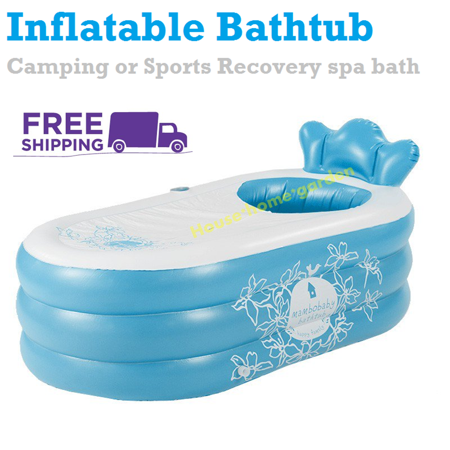 Camping Bathtub Hot Tub Inflatable Warm Cold Water Sports Recovery ...