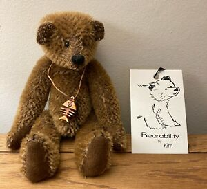 Bearability by Kim - MARMITE - Rare Vintage Limited Edition Artist Bear 6/10