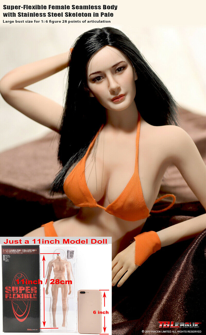 TBLeague PH S07 Pale Rubber Big Bust Body Figure 1 6 Flexible Doll With Clothes
