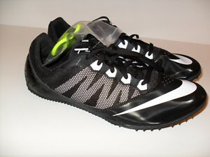 a0260a216 NEW MENS NIKE ZOOM RIVAL S 7 TRACK FIELD SPRINT SPIKE SHOES BLACK ...