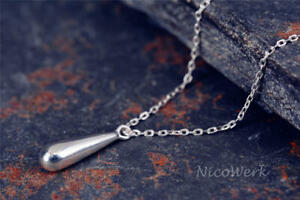 Silberkette-mit-Anhaenger-Tropfen-Glatt-Schlicht-Glaenzend-Halskette-Damen-925