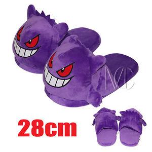 Cute 28cm Pokemon Go Gengar Plush Half Slipper Shoes Soft Warm ... 8dafbcdbf7