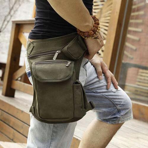 Men Tactical Riding Walking Outdoor Canvas Fanny Pack Waist Thigh Drop Leg Bags