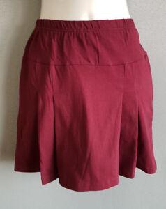 5f8a985d6 Details about BNWT Girls Dark Maroon LW Reid Brand Sz 14 School Uniform  Pleated Skort