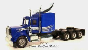 Peterbilt-Blue-Tr-Axle-Tractor-HO-1-87-Scale-Promotex-6528