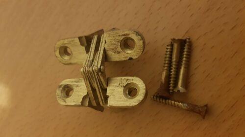 Soss numéro 203 invisible charnière dans Mat Finition Laiton-new old stock NOS