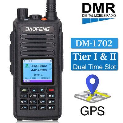 BAOFENG DM-1702 DMR Digital Analog GPS Two Way Ham Radio Tier II Walkie  Talkie 604348982006   eBay
