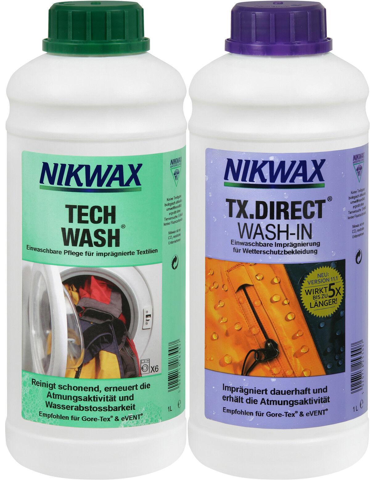 (Euro 22,50   1 Liter) 2 x 1 L Nikwax Tech Wash + TX Direkt Waschmittel Membran