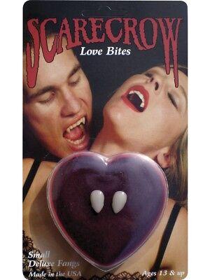 Avere Una Mente Inquisitrice Amore Morso Zanne Vampiro Uomo Donna Accessorio Costume Di Halloween Finta Zanne