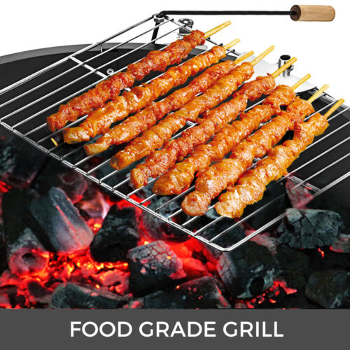 """36/"""" Steel Fire Ring Liner Ring Grill Swivels 360 Degrees BBQ Grills NEWEST"""