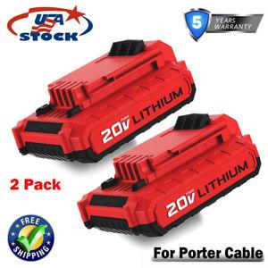 2x-PCC685L-20V-MAX-Battery-For-Porter-Cable-PCC680L-PCC681L-Li-ion-Cordless-Tool