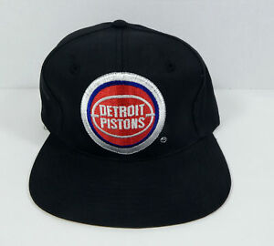 5cc777b5f92a66 Image is loading Vintage-Detroit-Pistons-Black-Logo-Snapback-Hat-Twins-