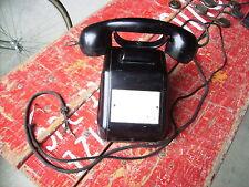 Téléphone noir BAKÉLITE  METAL SIEMENS 1950 vintage
