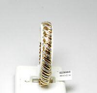 Diamond Accents 14k Rose White Gold Over Silver Vermeil Bracelet Sb7