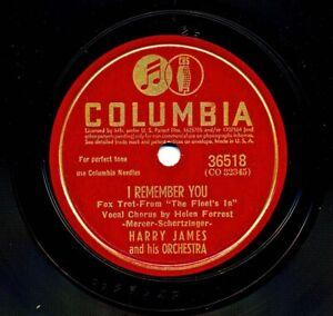HARRY JAMES 1942 Columbia 36518 - I Remember You / Last Night I Said a Prayer