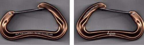 or multi-use w// Free Shipping Pair of Infinity Outfitter Carabiners for camping