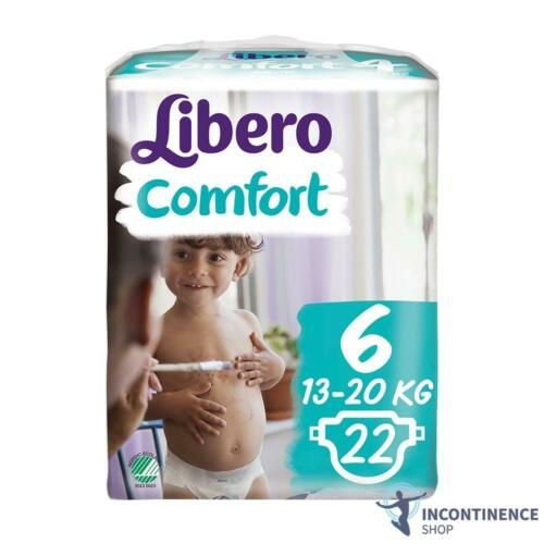 Childrens Nappies 13-22kg 1x Libero Comfort 6 - Pack of 22